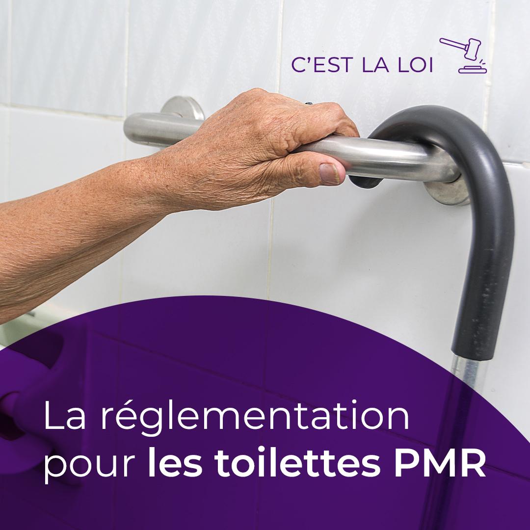 Ce que dit la loi : les toilettes PMR en ERP